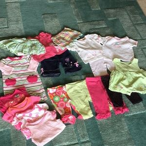 Other - 17pc baby girl size 3-6 Months bottoms,tops,onsies